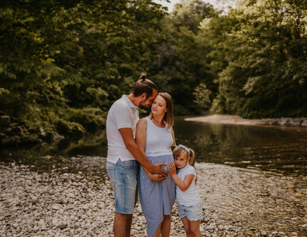 Družinsko fotografiranje, kanjon Kokre